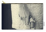 Woman With Revolver 60 X 45 Custom Carry-all Pouch