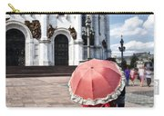 Woman With Umbrella - Moscow - Russia Carry-all Pouch