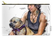Womans Best Friend Carry-all Pouch by John Haldane