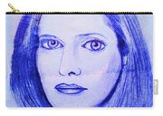 Womans Portrait  Carry-all Pouch