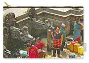 Women Get Bagmati River Holy Water From Ornate Fountains In Patan Durbar Square In Lalitpur-nepal  Carry-all Pouch