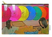 Women Working Together At Borsang Umbrella And Paper Factory In Chiang Mai-thailand Carry-all Pouch