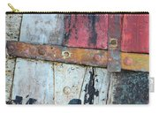 Wood And Metal Abstract Carry-all Pouch by Jill Battaglia