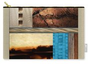 Wood And Stone Rectangular Textures Carry-all Pouch