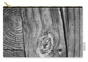 Wood Black And White Carry-all Pouch by Dan Sproul