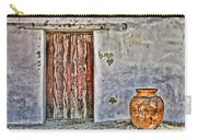 Wood Door And Clay Pot By Diana Sainz Carry-all Pouch
