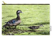 Wood Duck And Baby Carry-all Pouch