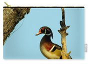 Wood Duck Drake In Tree Carry-all Pouch