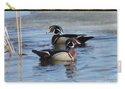 Wood Duck Drake Pair Carry-all Pouch