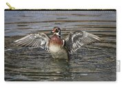Wood Duck Drake Wing Flap Carry-all Pouch