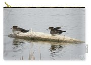 Wood Duck Females On A Log  Carry-all Pouch