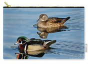 Wood Duck Pair Swimming Carry-all Pouch