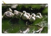 Wood Ducklings On A Log Carry-all Pouch