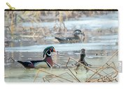 Wood Ducks In The Mist Carry-all Pouch