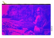 Wood Nymph In Pink And Blue Carry-all Pouch