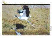 Wood Stork And Blue Heron Carry-all Pouch