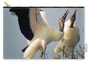 Wood Stork Courtship Display Carry-all Pouch