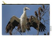 Wood Stork Preparing To Fly Carry-all Pouch
