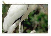 Wood Stork With Nestling Carry-all Pouch