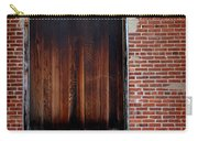 Wood Window Brick Wall Carry-all Pouch