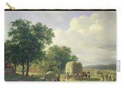 Wooded Landscape With Haymakers Carry-all Pouch