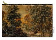 Wooded Landscape With Herdsman And Cattle Carry-all Pouch