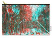 Wooded Path - Use Red And Cyan Filtered 3d Glasses Carry-all Pouch