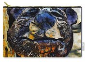 Wooden Bear Sculpture Carry-all Pouch by Barbara Snyder