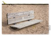 Wooden Bench Burried In The Sand Carry-all Pouch