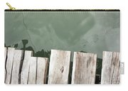 Wooden Board Against Sea Surface Carry-all Pouch
