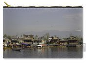 Wooden Boats Shikaras And Houseboats In The Dal Lake In Srinagar Carry-all Pouch