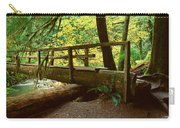 Wooden Bridge In The Hoh Rainforest Carry-all Pouch
