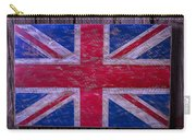 Wooden British Flag Carry-all Pouch