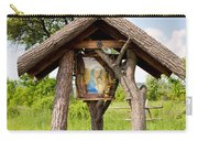wooden shrine of holy Mother in Poland  Carry-all Pouch