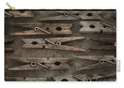 Wooden Clothespins Carry-all Pouch