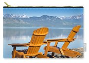 Wooden Deckchairs Overlooking Scenic Lake Laberge Carry-all Pouch
