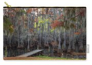 Wooden Dock On Autumn Swamp Carry-all Pouch