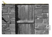 Wooden Door And Stone Wall 1 Carry-all Pouch
