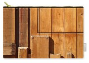 Wooden Door Detail Carry-all Pouch by Carlos Caetano