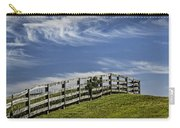 Wooden Farm Fence On Crest Of A Hill Carry-all Pouch