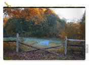 Wooden Fence In Autumn Carry-all Pouch