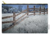 Wooden Fence Of A Friesian Horse Pasture On Windmill Island Carry-all Pouch