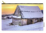Wooden Hut In Sunset Carry-all Pouch