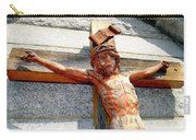 Wooden Jesus Carry-all Pouch