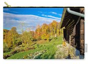 Wooden Lodge In Autumn Mountain Nature Carry-all Pouch