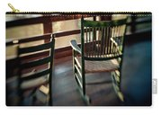 Wooden Rocking Chairs On A Deck Carry-all Pouch