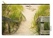 Wooden Stairs Over Dunes At Beach Carry-all Pouch