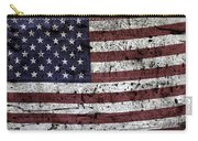 Wooden Textured U. S. A. Flag Carry-all Pouch