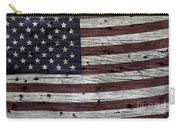 Wooden Textured Usa Flag3 Carry-all Pouch by John Stephens