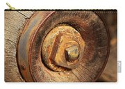 Wooden Wheel Hub Carry-all Pouch